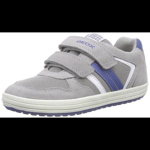 info for 2340c 80e02 GEOX RESPIRA boys gray Velcro sneakers new sz 28 NWT